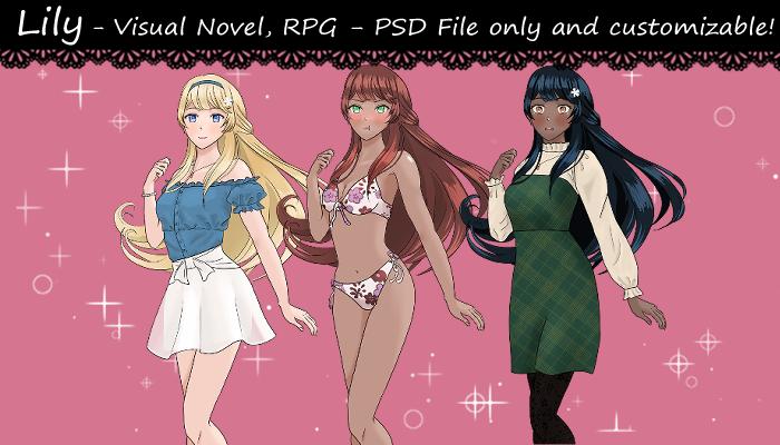 Lily-visual novel character
