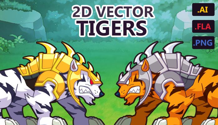 2D VECTOR TIGER