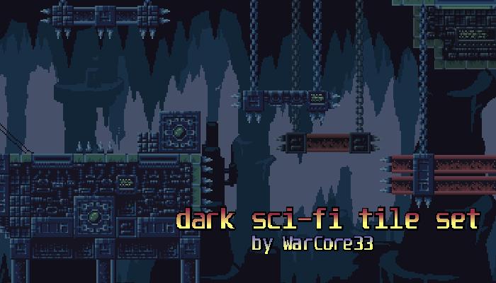 Dark sci-fi tile set