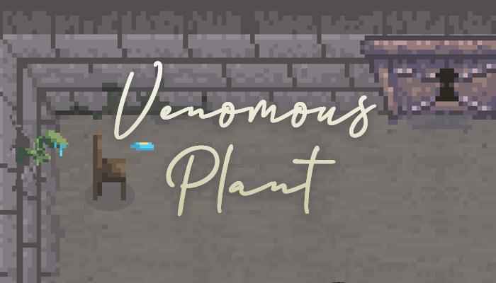Pixel Art – Venomous Spitting Wall Plant