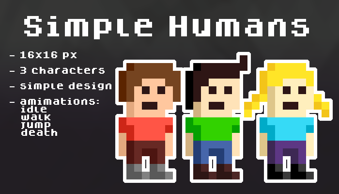 Simple humans [16×16 px]