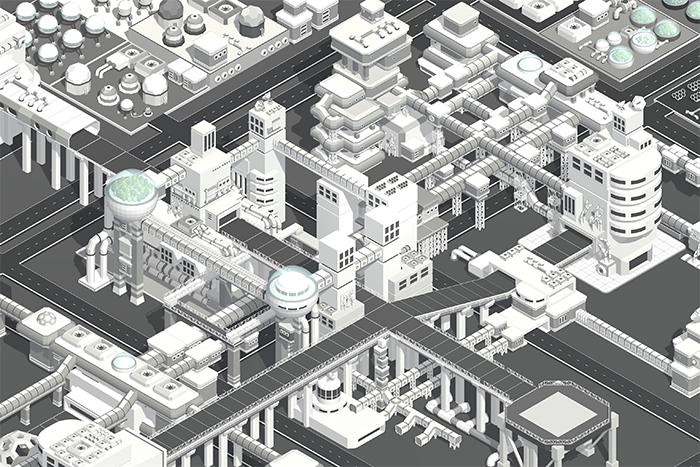 SCIFI STATION – Low Poly 3D Art Construction Kit