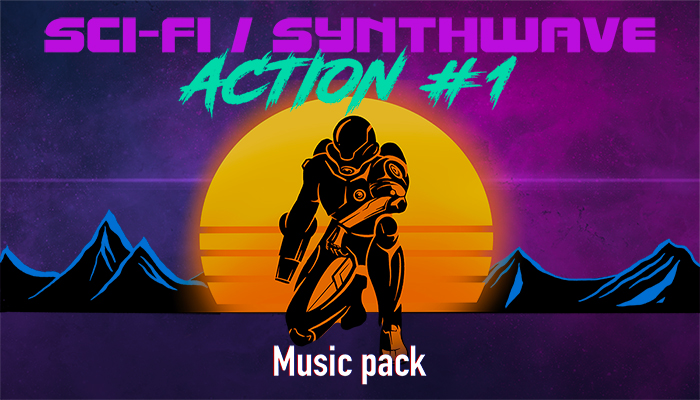 Sci – Fi / Synthwave Action Music Pack #1