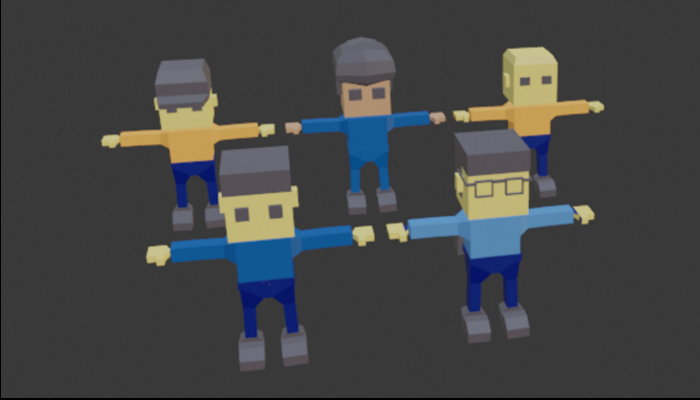 lowpoly characters
