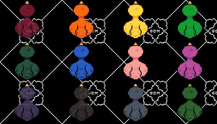 64×64 Colored Ducks
