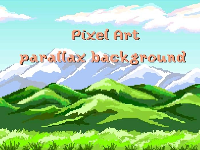 Pixel Art parallax background