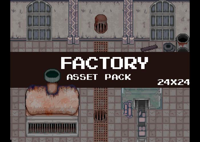 Factory Pixel Art Tileseet