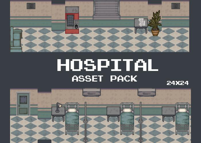 Hospital Pixel Tileset