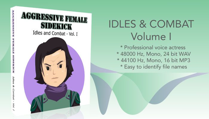 Aggressive Female – Idles and Combat Voicepack – Volume 1
