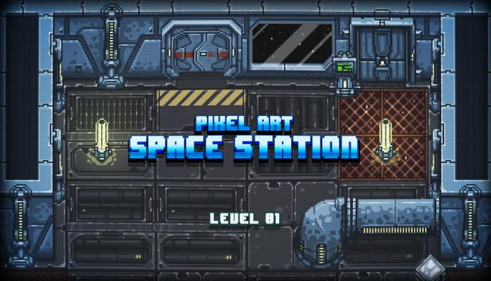 Pixel Art Space Station