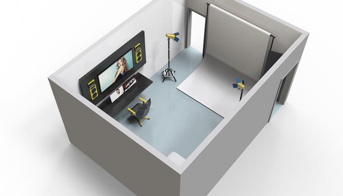 Photography Studio 3d model setup