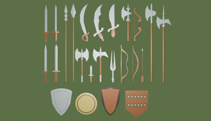 LowPoly Medieval Weapons