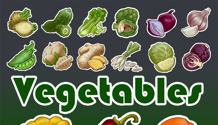 Vegetables 30 icons