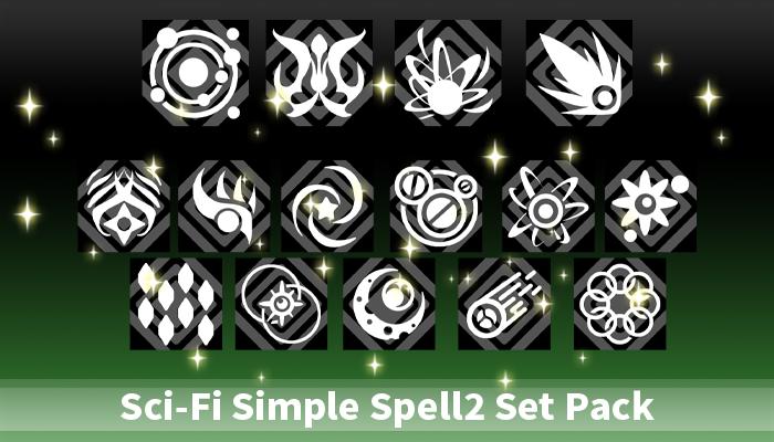 Sci-Fi Simple Spell2 Set Pack