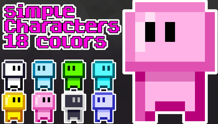 18 Colorful simple characters
