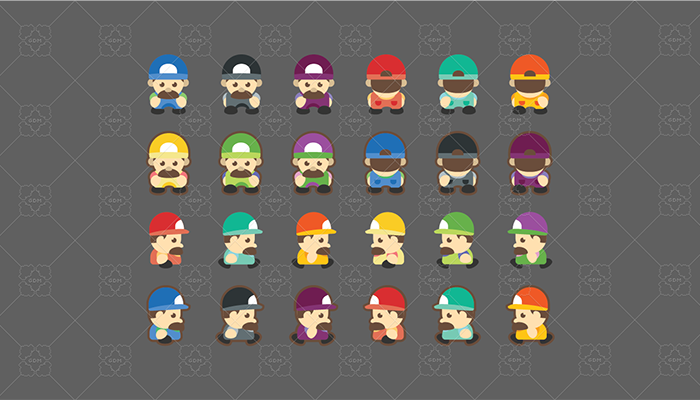 Character Sprite Pack: Walk 4 Directions