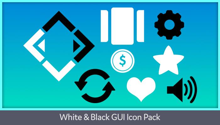 White & Black GUI Icon Pack