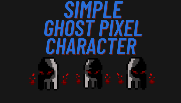 Simple Ghost Pixel Character