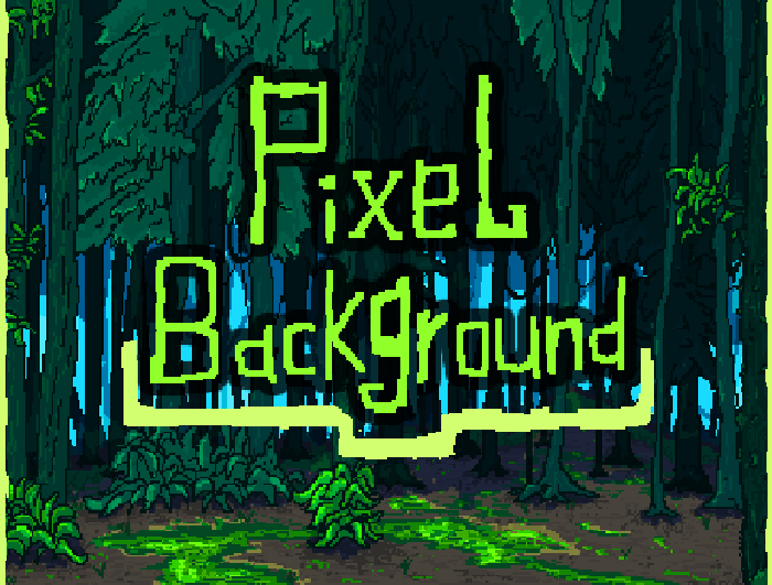 Pixel Forest Background