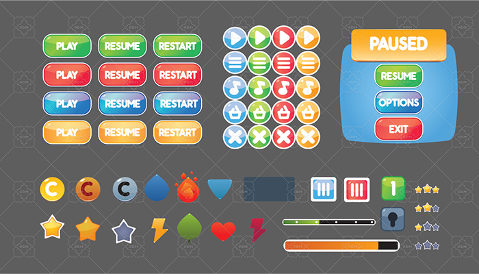 Casual Game GUI Interface