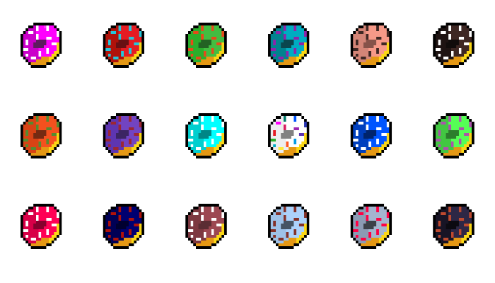 Pixelated Donuts Pack