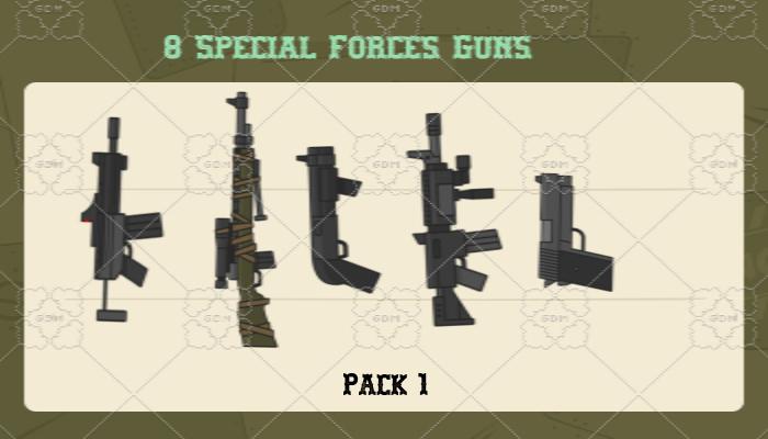 2d Special Forces Guns Pack 1