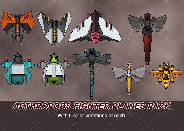 ARTHROPODS FIGHTER PLANES PACK
