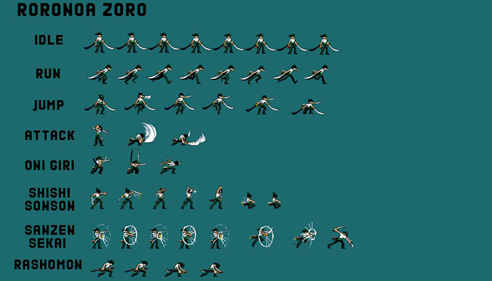 One Piece Roronoa Zoro Pixel