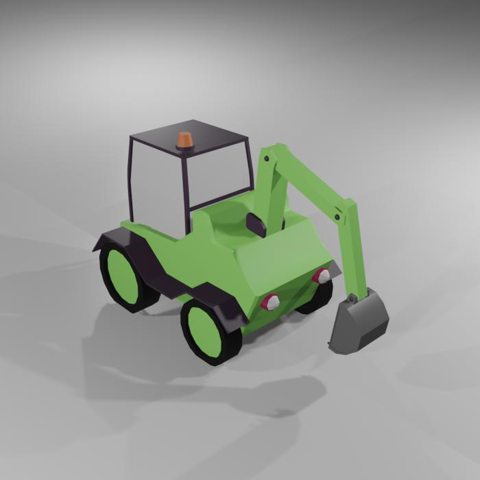Low Poly Excavator