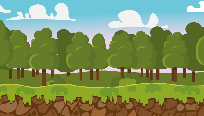 2D CASUAL FOREST BACKGROUND