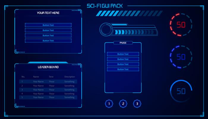 Sci-fi GUI pack