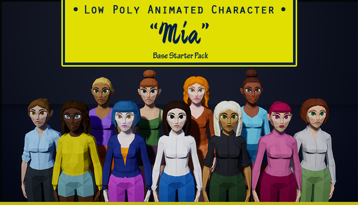 Low Poly Animated Character – Mia