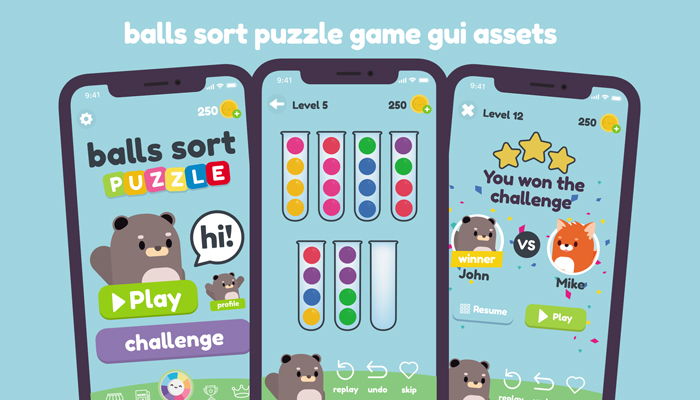 Ball Sort Puzzle Game Gui Assets