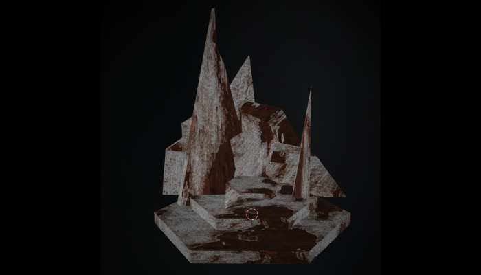 Rusted Metal Throne Model
