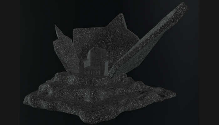 Seat of the Damaged King Throne Model 2