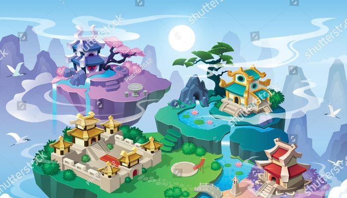 Atmospheric calm adventure or RPG music