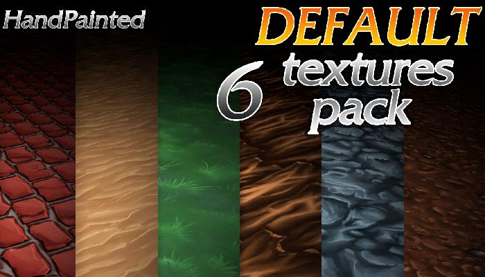 HandPainted. DEFAULT textures pack | 6 textures
