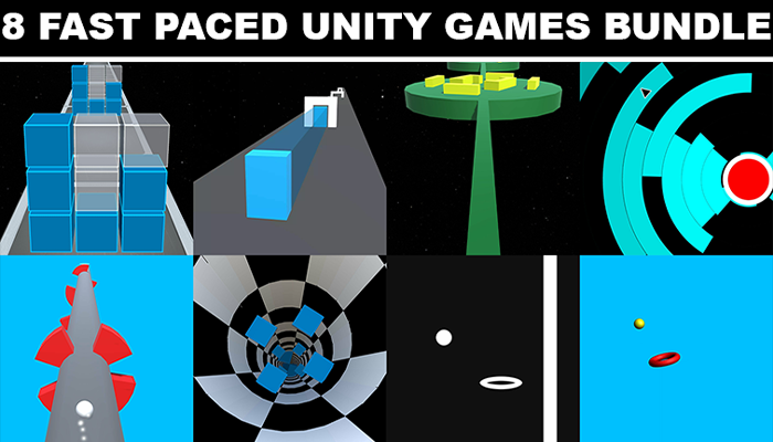 8 Fast Paced Unity Games Bundle