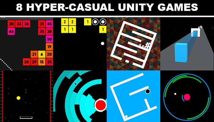 8 Fun Hyper-Casual Unity Games Bundle