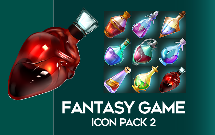 Hand-drawn fantasy Potion pack