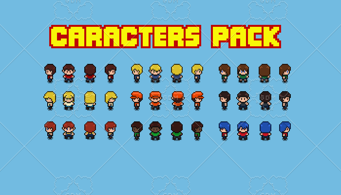 original animated characters pack