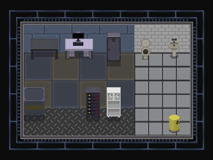 Topdown Pixel Tilemap Underground Lab
