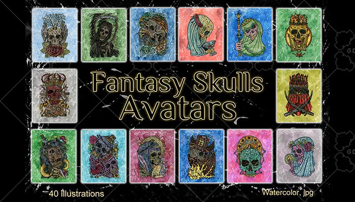 Fantasy Skulls Avatars
