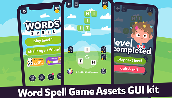 Words Spell / Guess Words GUI Assets