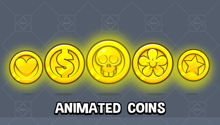 Animated coins