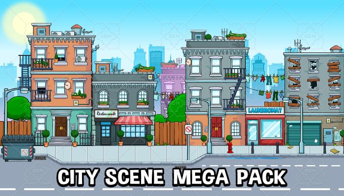 City scene mega pack