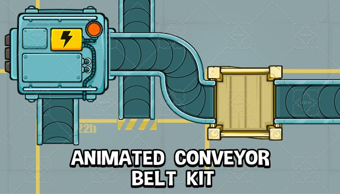 Animated conveyor belt kit