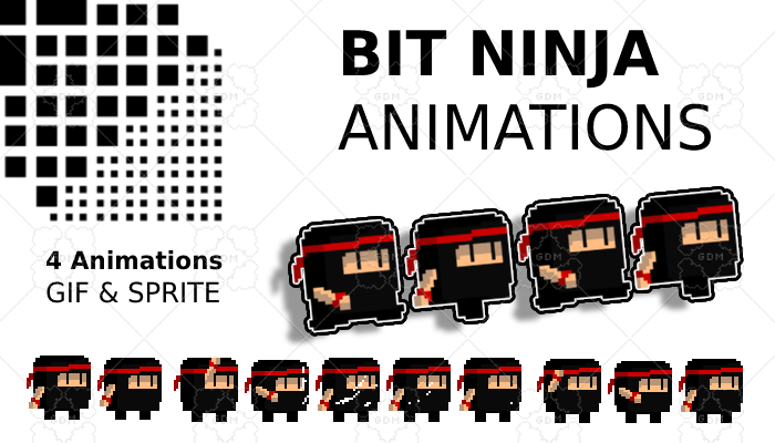 Bit Ninja Pack Animations