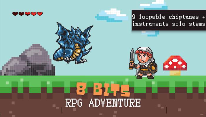 8-Bit/ Chiptune Adventure Music Pack