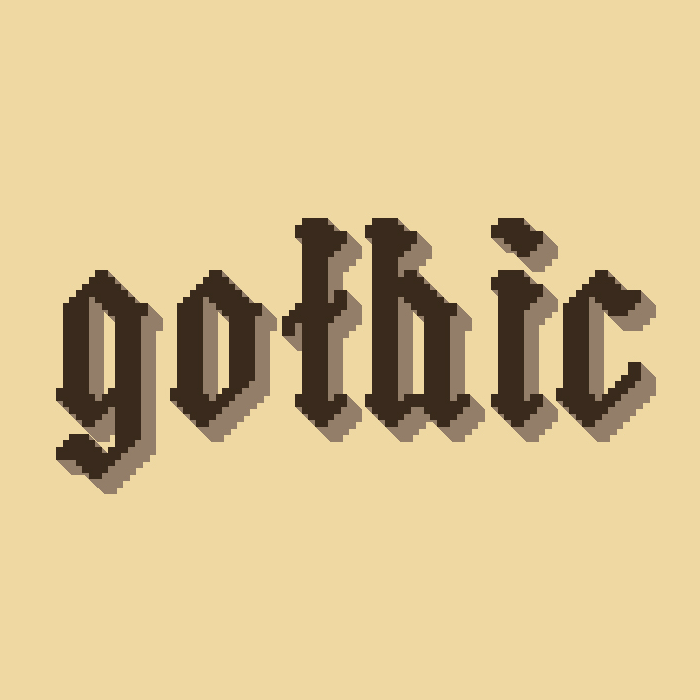 Straight Pixel Gothic Font